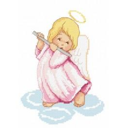 Zahlmuster online - Engelchen mit Flöte