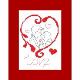 Zahlmuster online - Valentinstagskarten