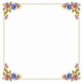 Zahlmuster online - Tischdecke mit Stiefmütterchen