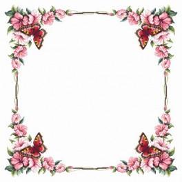 Zahlmuster online - Tischdecke mit Schmetterling