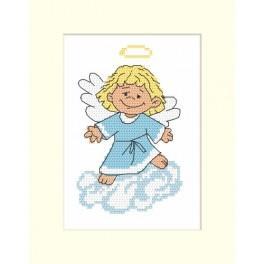 Zahlmuster online - Karte mit einem Engelchen