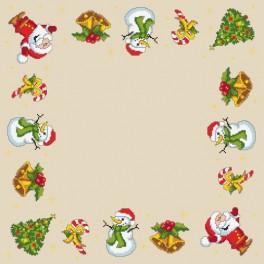 Zahlmuster online - Weihnachtsserviette
