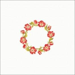 W 8355-01 Zahlmuster online - Tischdecke - Tulpenkranz 90x90 cm
