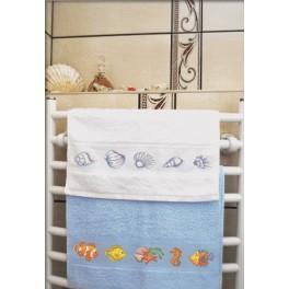 W 8365 Zahlmuster online - Handtuch mit Muscheln