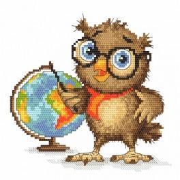 Zahlmuster online - Kleine Eule - Erdkundelehrerin