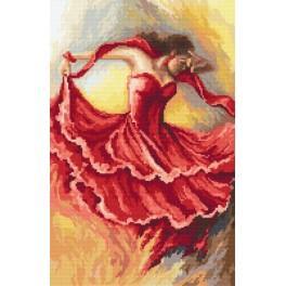 Zahlmuster online - Tanz der Urgewalten - Feuer