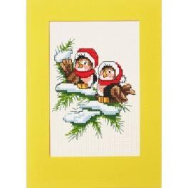 Zahlmuster online - Weihnachtsvögelchen