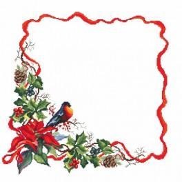 Zahlmuster online - Serviette - Weihnachtsabend