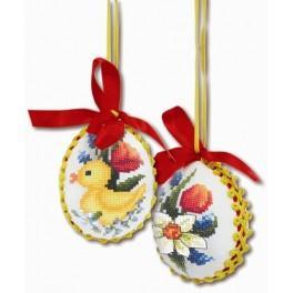 Zahlmuster online - Frühlingshafte Eier
