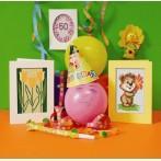 Zahlmuster online - Geburtstagskarte - Drei Tulpen