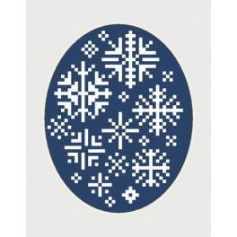 Zahlmuster online - Weihnachtskarte - Schneeflocken