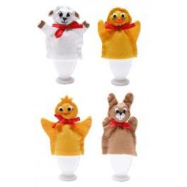 Zahlmuster online - Handpuppen-Eierwärmer