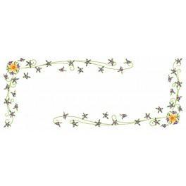 W 8464 Zahlmuster online - Narzissen mit Veilchen