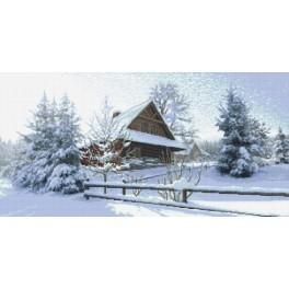 Zahlmuster online - Berghütte - Der Winter