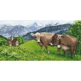Zahlmuster online - Alpenwiese