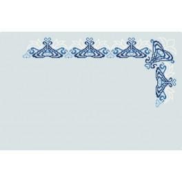 Zahlmuster online - Blaue Serviette