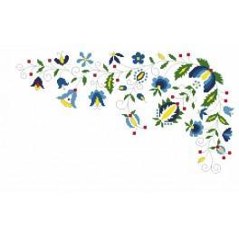Zahlmuster online - Untersetzer mit Blumenmotiv
