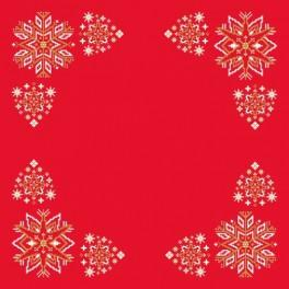 Zahlmuster online - Serviette - Weihnachtssterne