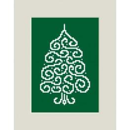 Zahlmuster online - Weihnachtskarte - Christbaum