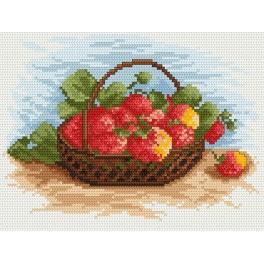 Zahlmuster online - Erdbeeren
