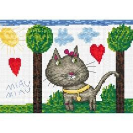 Zahlmuster online - Miau, miau