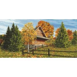 Zahlmuster online - Berghütte - Herbst
