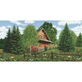 Zahlmuster online - Berghütte - Sommer