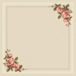 W 8578 Zahlmuster online - Tischdecke mit Rosen