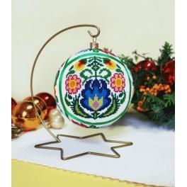 Zahlmuster online - Ethnische Weihnachtskugel