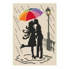 Zahlmuster online - Bunter Regenschirm – Die Verliebten