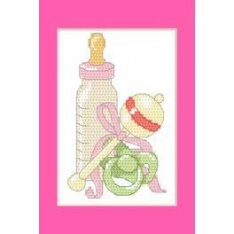 W 8615-01 Zahlmuster online - Geburtskarten – Geburt einer Tochter