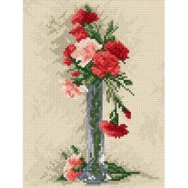 Zahlmuster online - Nelken in der Vase