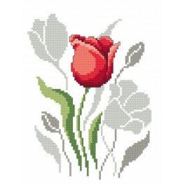 Zahlmuster online - Frühlingsblumen-Tulpen
