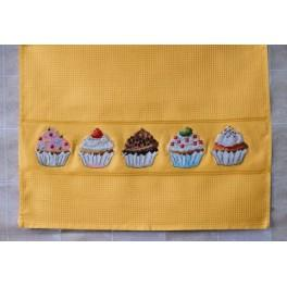 Zählmuster online - Geschirrtücher - Muffins