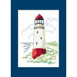 Zahlmuster online - Karte - Landschaft mit Leuchtturm I