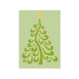 Zahlmuster online - Weihnachtskarte - Weihnachtsbaum
