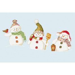 Zahlmuster online - Lustige Schneemänchen
