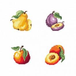 Zahlmuster online - Am Stand - Früchte