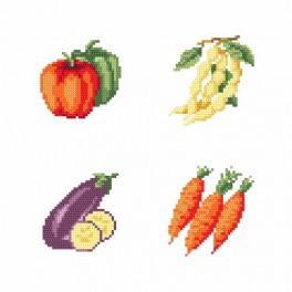 Zahlmuster online - Am Stand - Gemüse