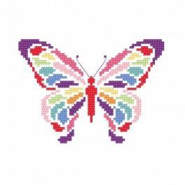 Zahlmuster online - Schmetterling