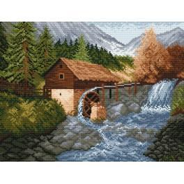 Zahlmuster online - Eine Wassermühle