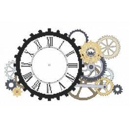 Zahlmuster online - Steampunk-Uhr