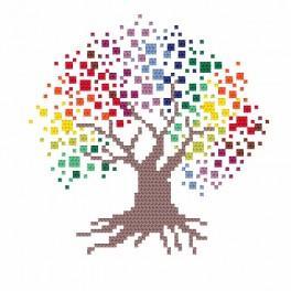 Zahlmuster online - Bunter Baum