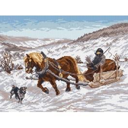 Zahlmuster online - Im Winter