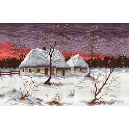 Zahlmuster online - Eine Hütte im Winter