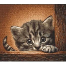 Zahlmuster online - Katze auf einer Leiter
