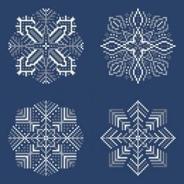 Zahlmuster online - Schneeflocken