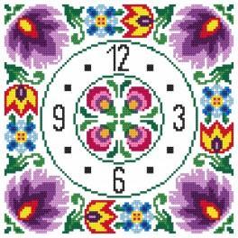 Zahlmuster online - Ethnische Uhr