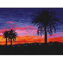 Zahlmuster online - Sonnenuntergang