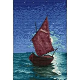 Zahlmuster online - Segelboot